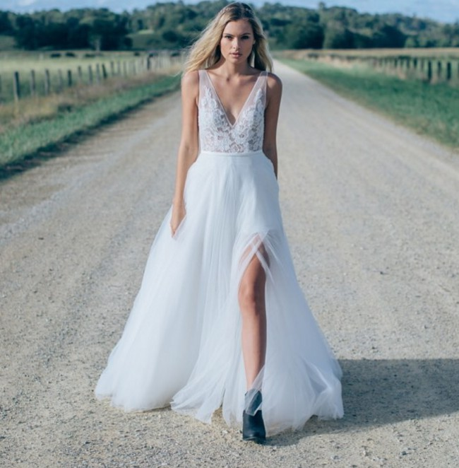 Made With Love \'Willow\' Sample Wedding Dress on Sale 39% Off