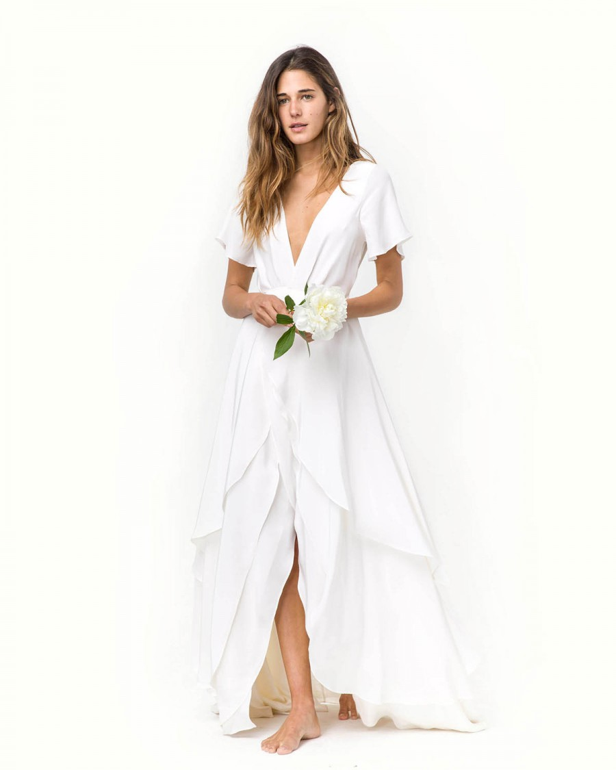 Casual chic 50 less formal minimalist wedding gowns christy dawn junglespirit Choice Image