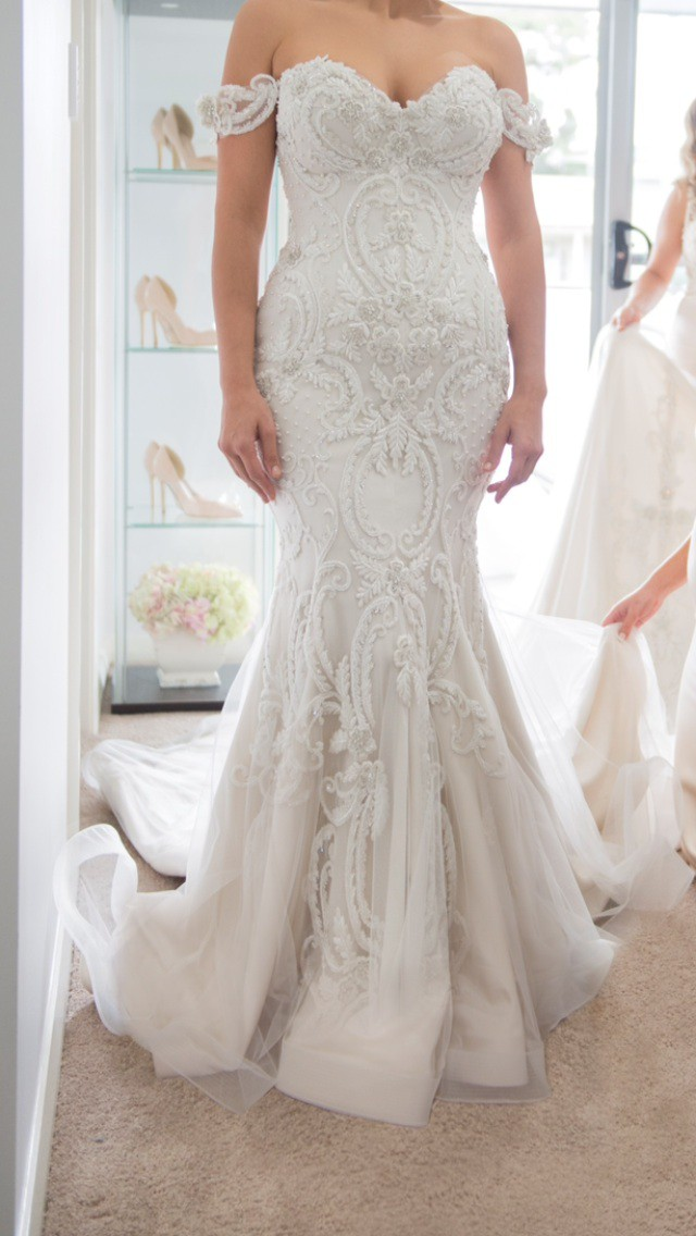 Steven khalil preowned wedding dress on sale 38 off for Steven khalil wedding dresses cost