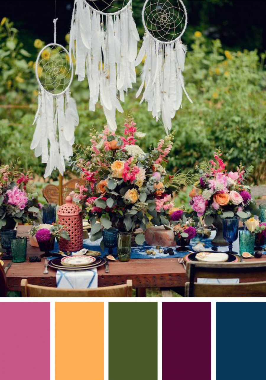 Color Palettes To Complement Your Outdoor Wedding
