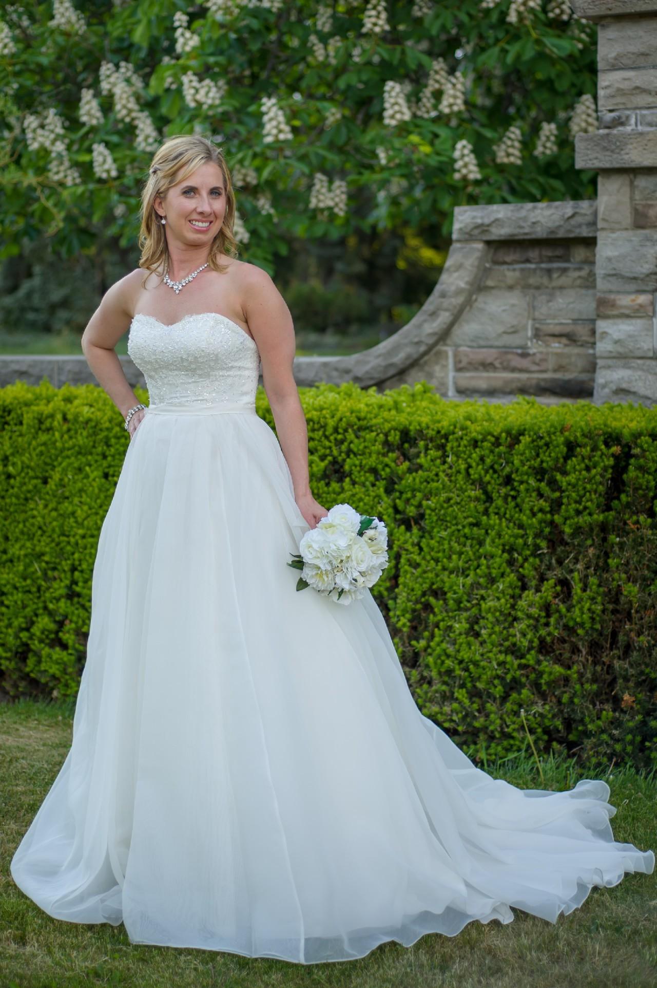 Oleg Cassini CWG731 Preowned Wedding Dress on Sale 36% Off