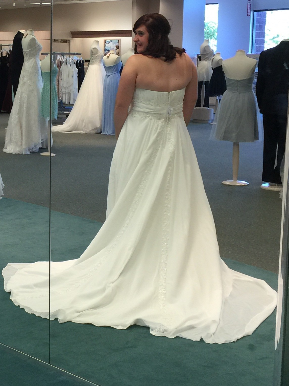 David 39 s bridal new wedding dress on sale 50 off for Wedding dress shops in huntsville al