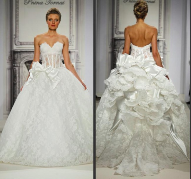 Pnina tornai the style 32908410 pre owned wedding dress for Pnina tornai wedding dress cost