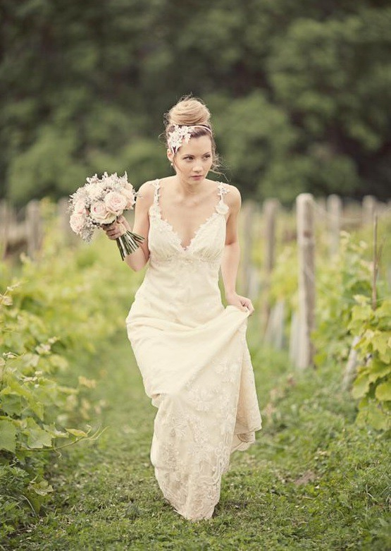 Claire pettibone constance sample wedding dress on sale 80 for Wedding dress sample sale san francisco