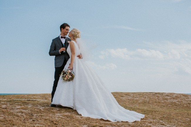 Ball Gown Pre-Owned Wedding Dress on Sale 65% Off