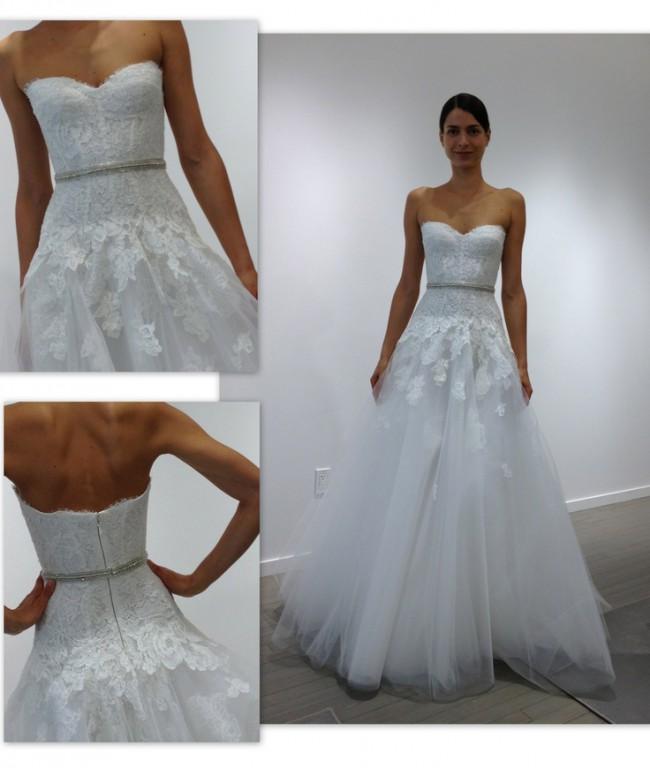 Monique Lhuillier Jade Dress + Tulle Belt - Used Wedding Dresses ...