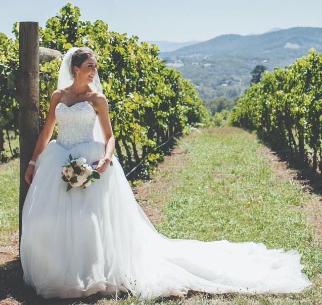 Le chateau blanc super baron second hand wedding dress on for Second hand wedding dresses san diego