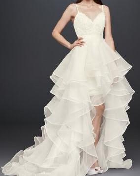 Galina Signature, Beaded Lace and Organza Two Piece Wedding Dress