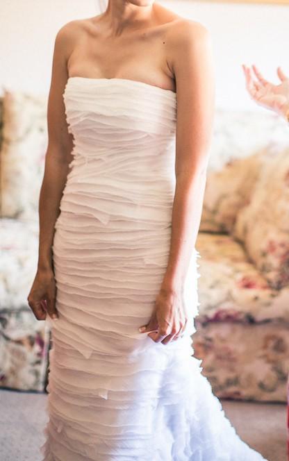 oscar de la renta 12n27 second hand wedding dress on sale 90 off. Black Bedroom Furniture Sets. Home Design Ideas