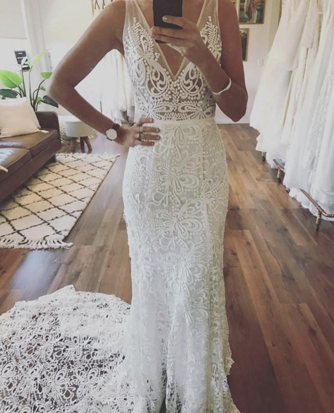 Made with love sasha ivory new wedding dress on sale for Made with love wedding dresses