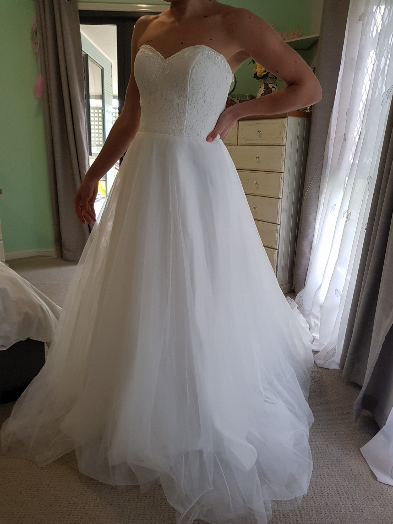 Made with love kelly with tulle skirt new wedding dress on for Made with love wedding dresses