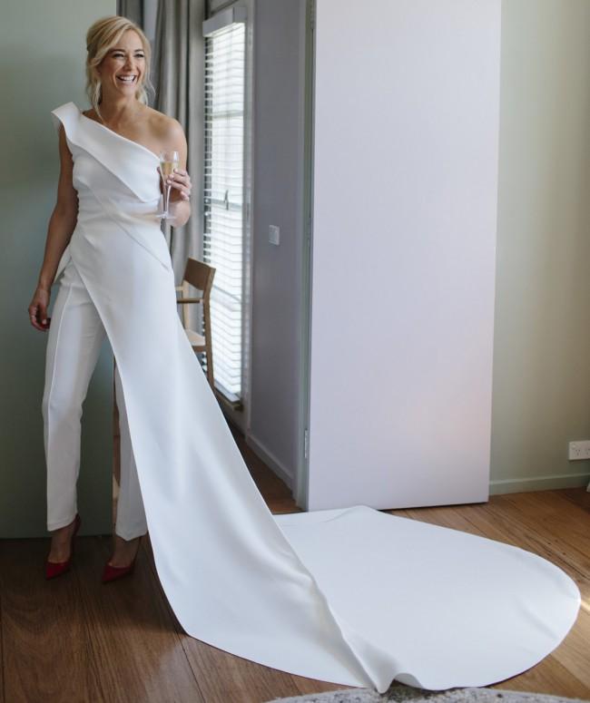Toni Maticevski, Nicole Warne wedding outfit