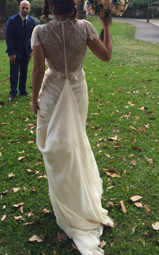 Jenny packham aspen vintage second hand wedding dress on for Second hand jenny packham wedding dress
