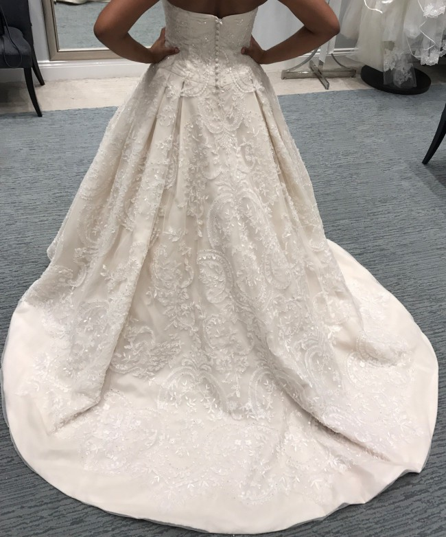Oleg cassini wedding dress on sale 5 off oleg cassini a line junglespirit Gallery