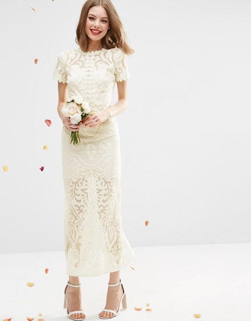 ASOS Bridal Lace Burn Out Maxi Dress - New Wedding Dresses - Stillwhite