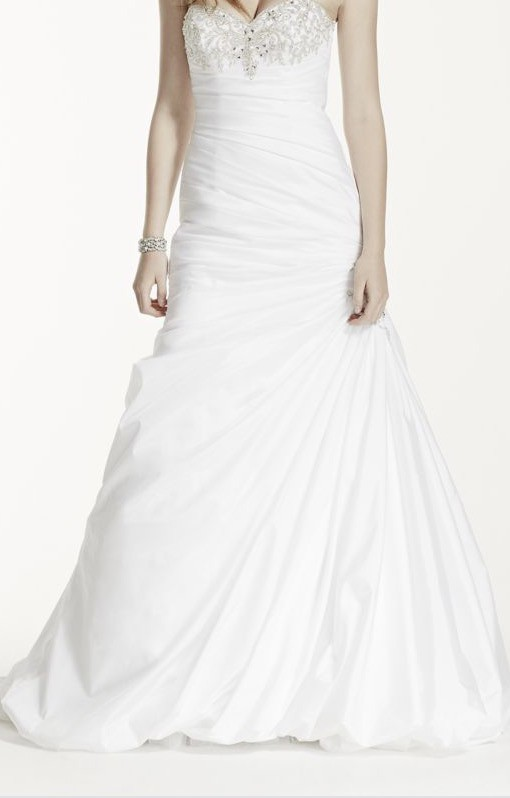 David\'s Bridal Strapless Sweetheart Trumpet Wedding Dress New ...