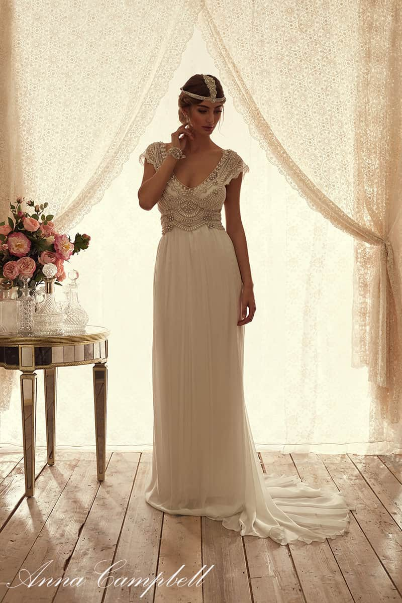 Anna campbell coco slimline chiffon second hand wedding for Where to buy anna campbell wedding dresses