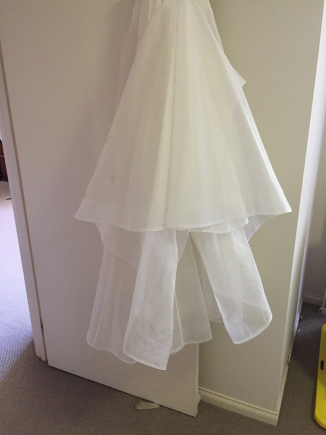 Anna campbell organza skirt skirt only used wedding for Wedding dress skirt only