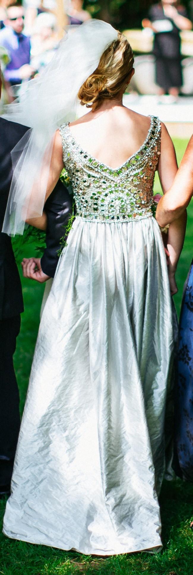 Collette Dinnigan Fantasia V Neck Used Wedding Dress on Sale 55% Off