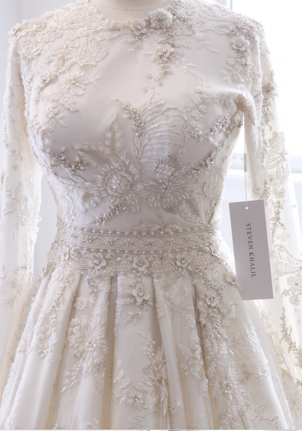 Steven Khalil Used Wedding Dress On Sale 46 Off Stillwhite