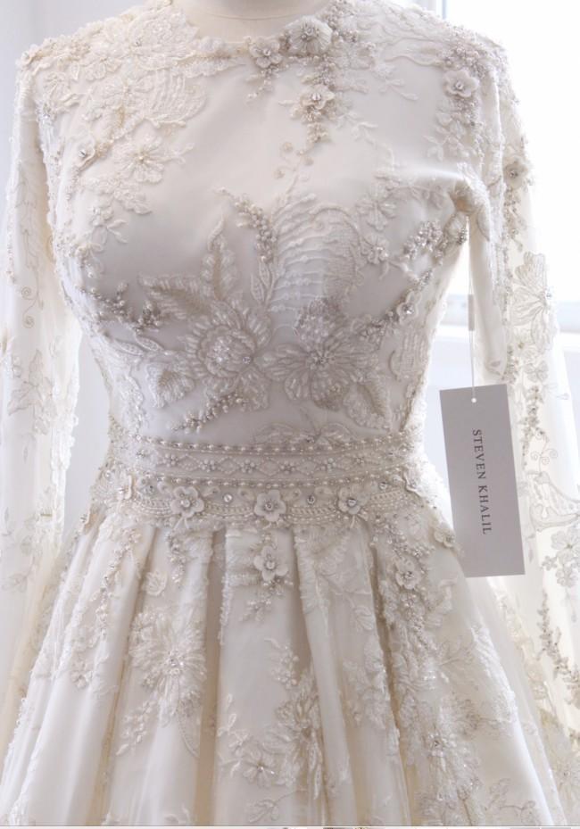 Steven khalil pre owned wedding dress on sale 46 off for Steven khalil wedding dresses cost