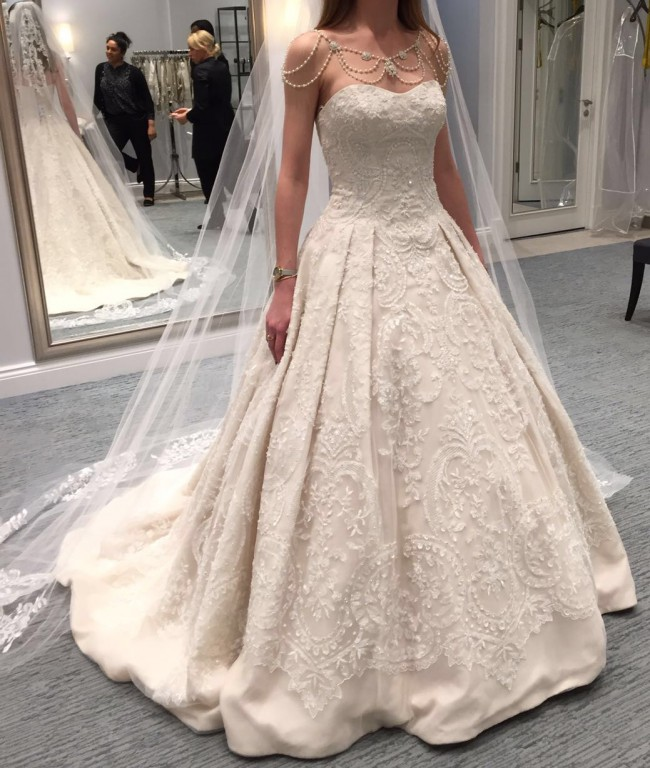 Oleg cassini cwg635 new wedding dress on sale 17 off for Oleg cassini champagne wedding dress