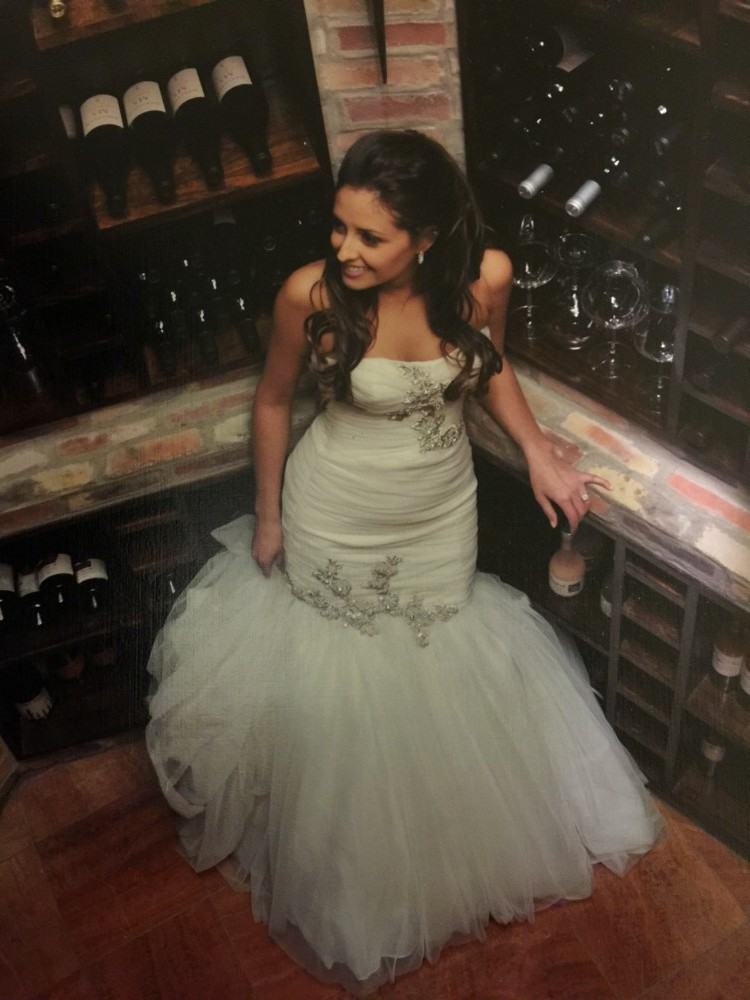 Kenneth pool tulle mermaid gown second hand wedding dress for Second hand wedding dresses san diego
