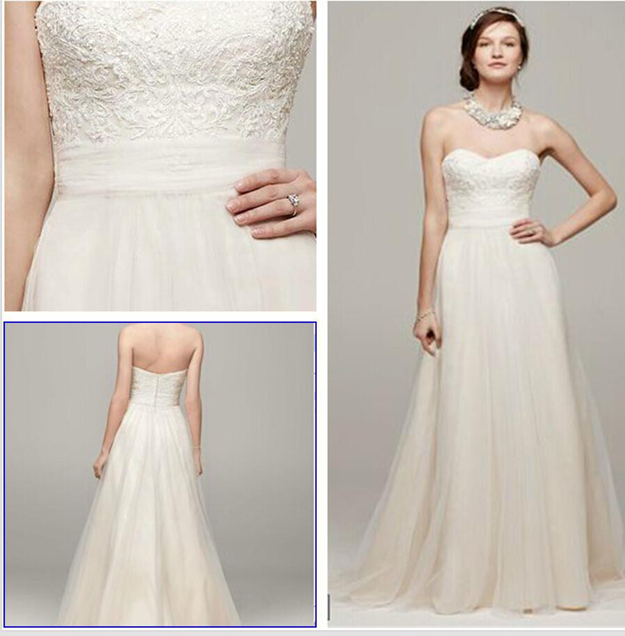 David 39 s bridal wg3586 new wedding dress on sale 50 off for Wedding dresses less than 300
