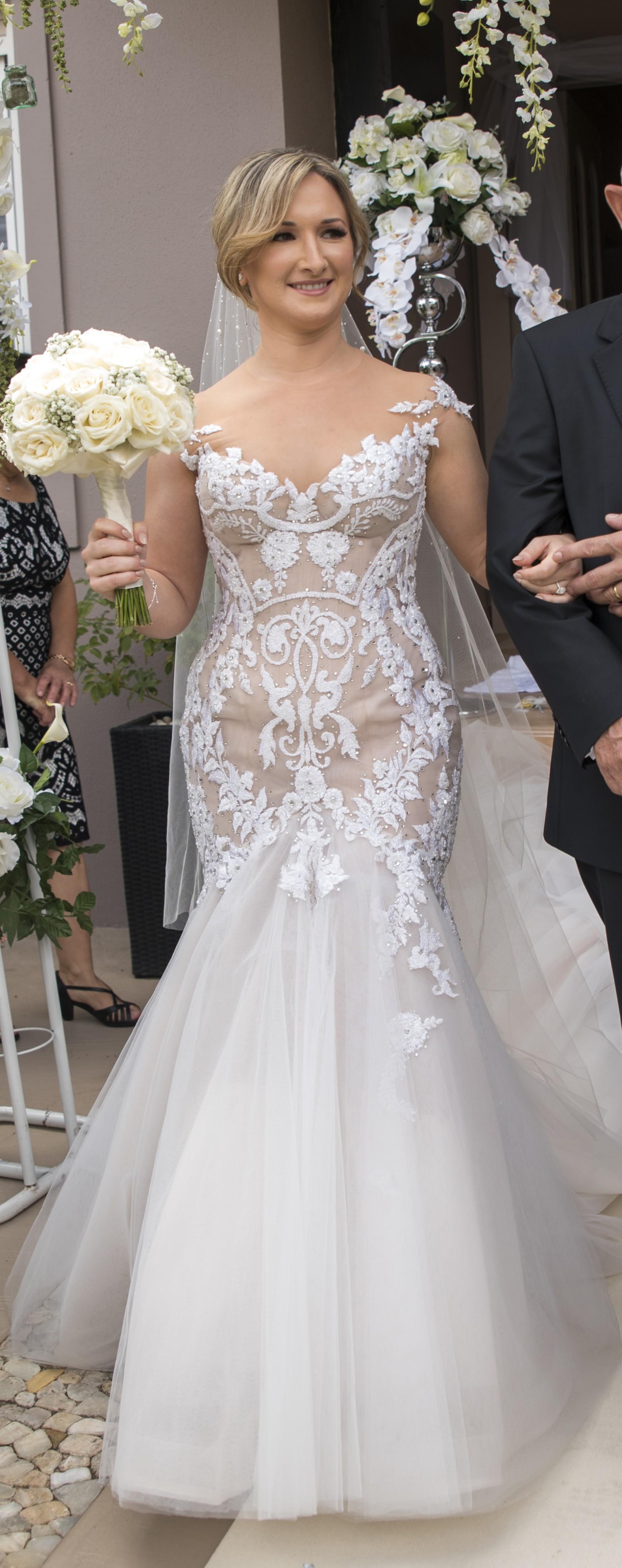 Steven Khalil Custom Made Preowned Wedding Dress On Sale