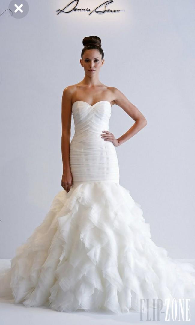 Dennis Basso, Reduced Price Blush Sweetheart Mermaid Dress