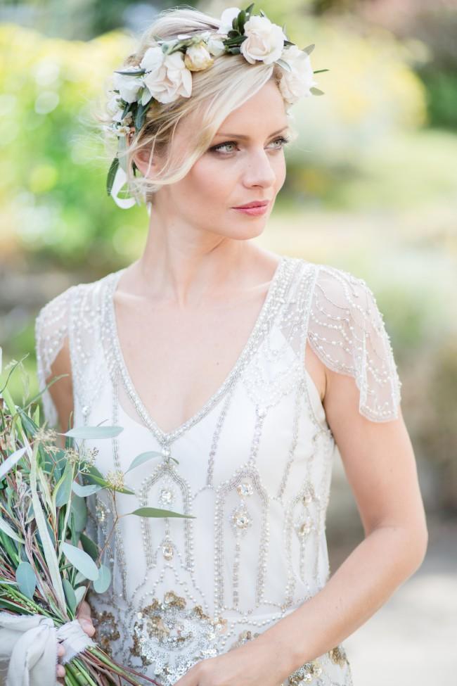 Jenny Packham Eden Platinum PreOwned Wedding Dress on Sale 41% Off