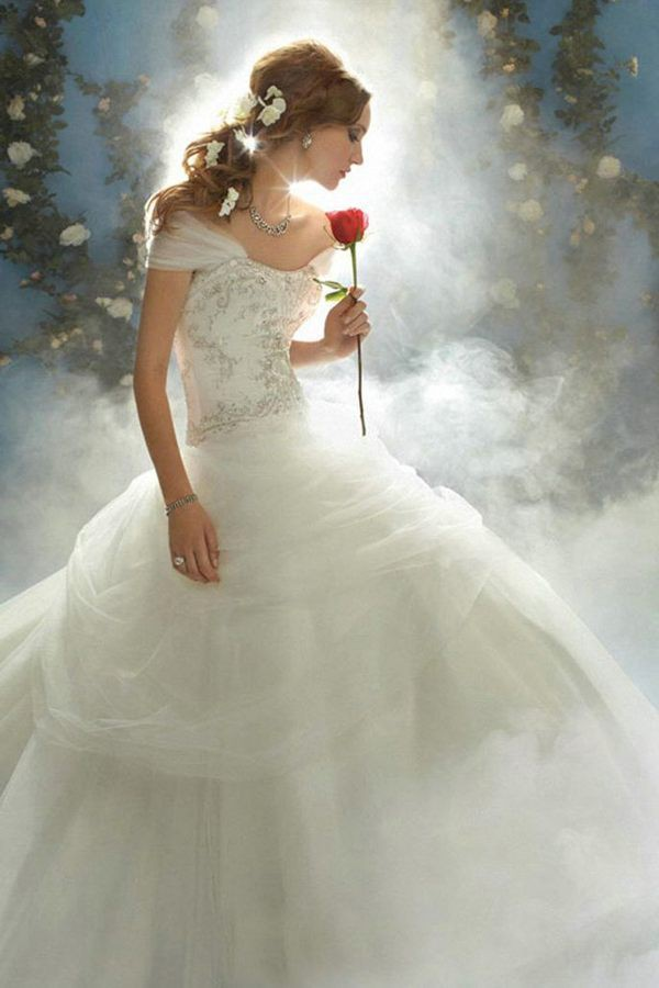 Alfred angelo belle disney princess style 206 new wedding for Belle style wedding dress