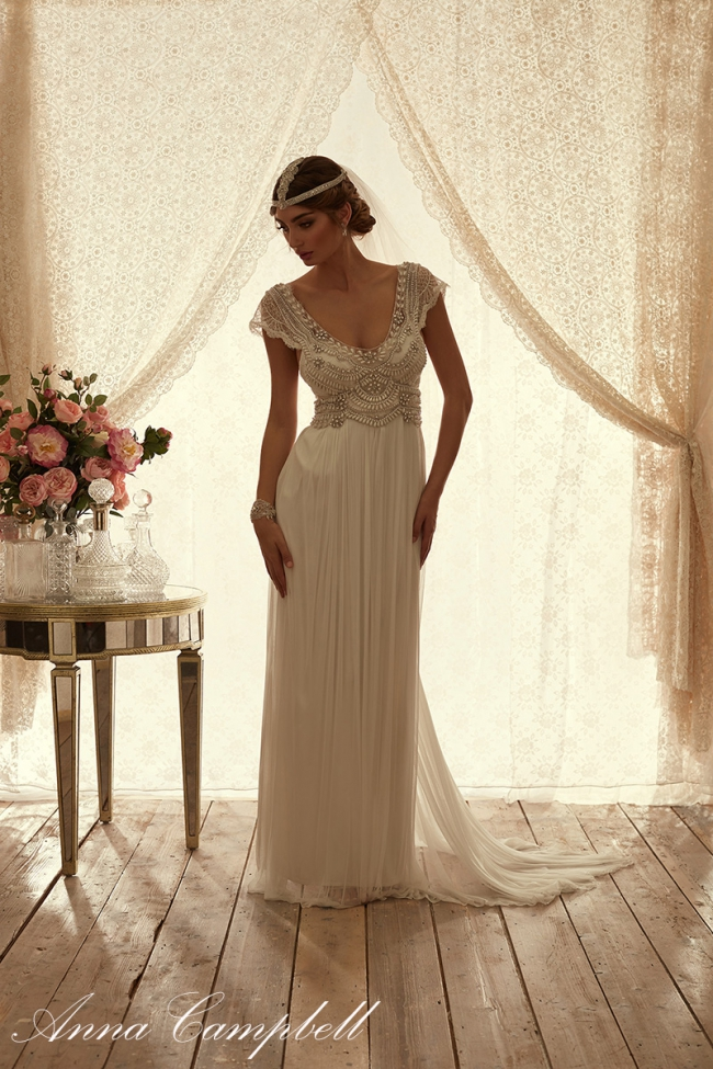 Anna Campbell Coco Silk Tulle New Wedding Dress On Sale 40