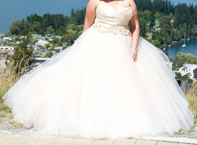 Blush Ball Gown Wedding Dress: Lazaro 3108 Blush Preowned Wedding Dress On Sale 60% Off