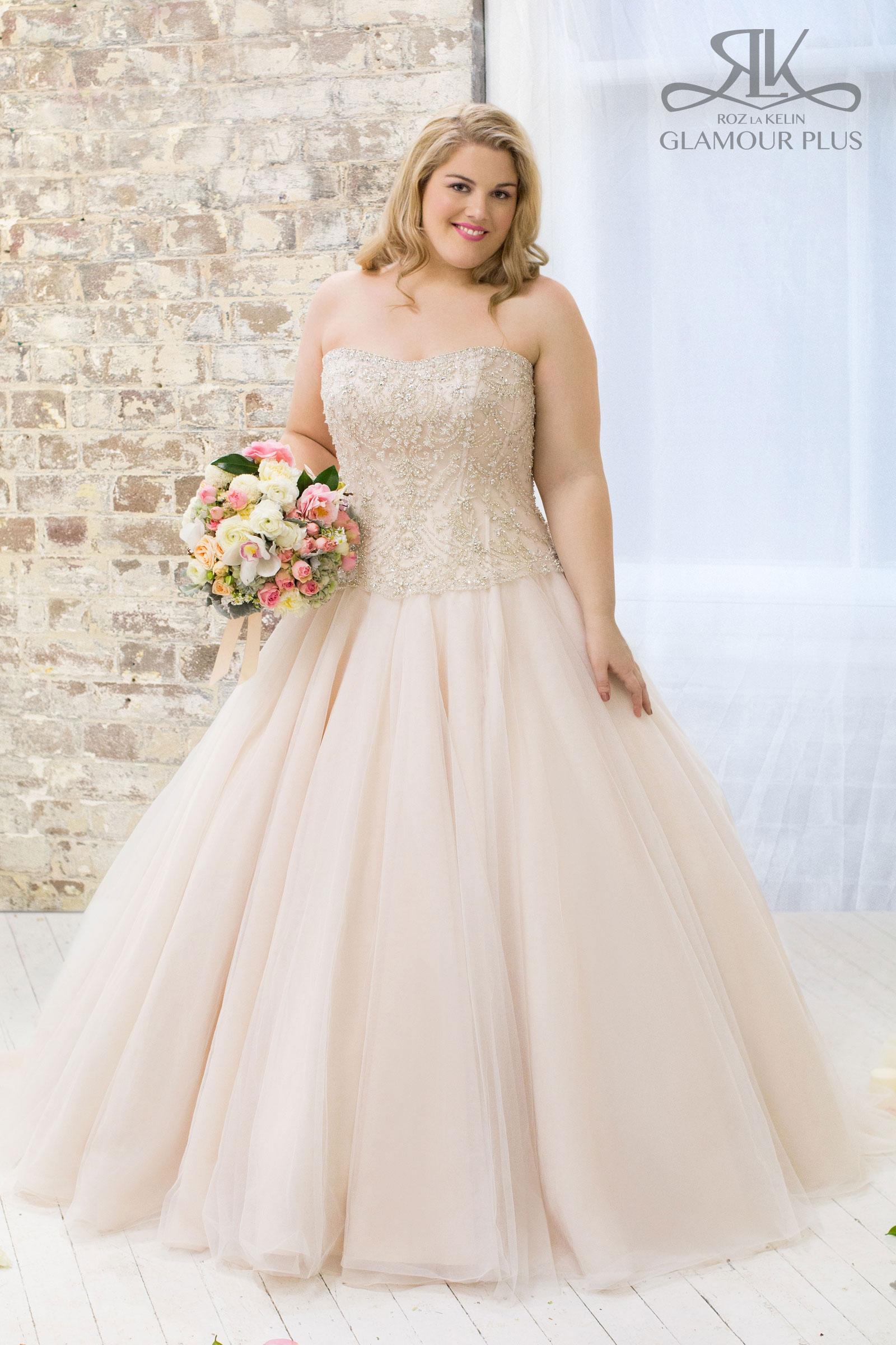 Roz la kelin tulip 5852t used wedding dress on sale 51 off for Plus size wedding dresses on sale