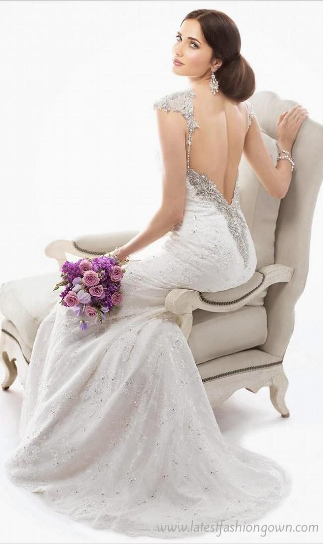 My lady backless swarokski encrusted wedding dress used for Used wedding dresses victoria bc