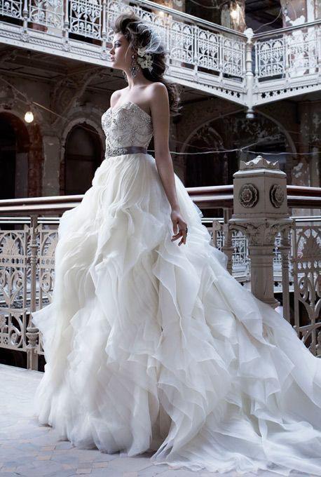 Lazaro 3153 Used Wedding Dress On Sale 64 Off