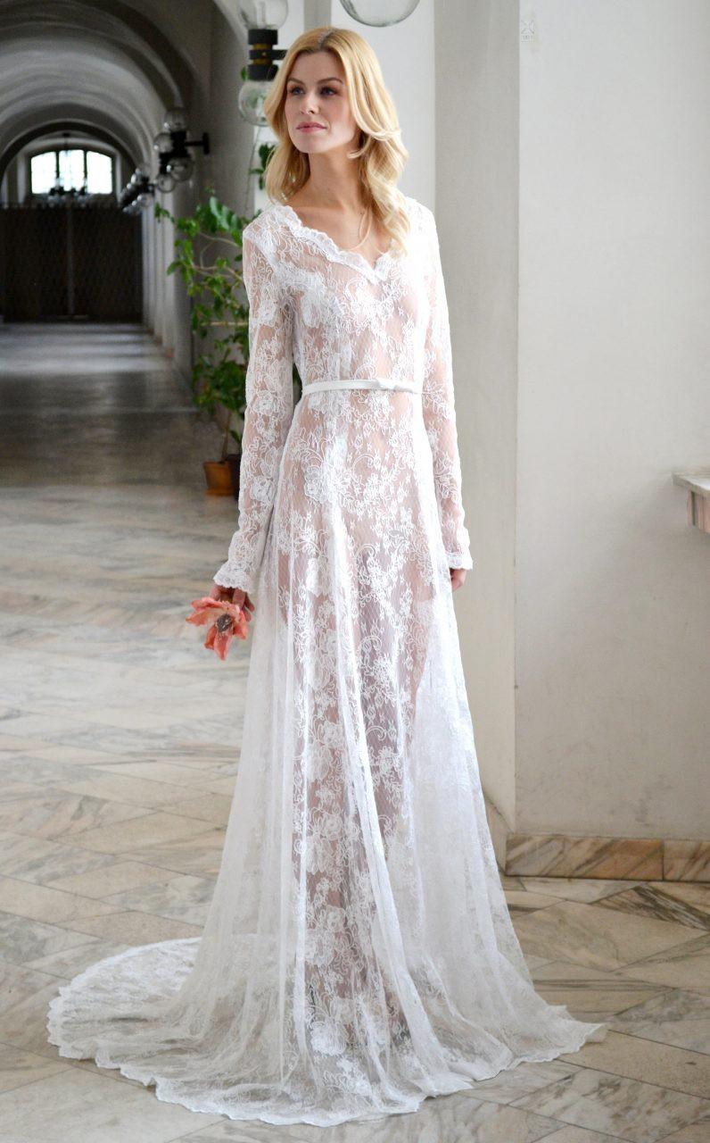 Barely there 55 sheer wedding dress styles aida kapociute junglespirit Gallery