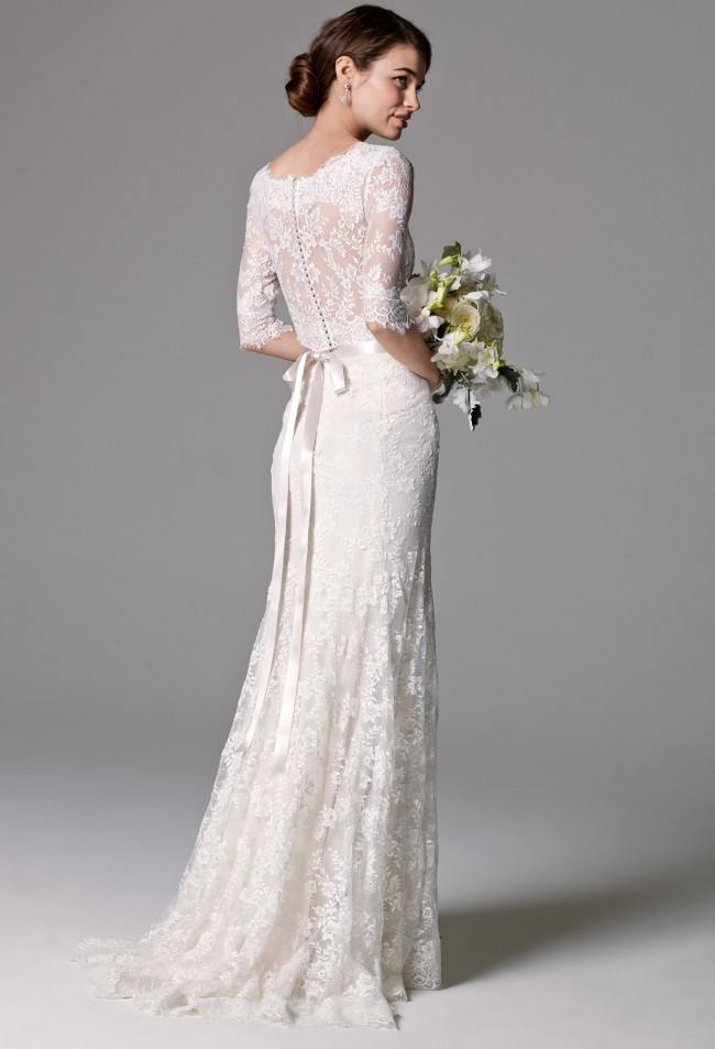Watters riviera second hand wedding dress on sale 50 off for Second wedding dresses not white