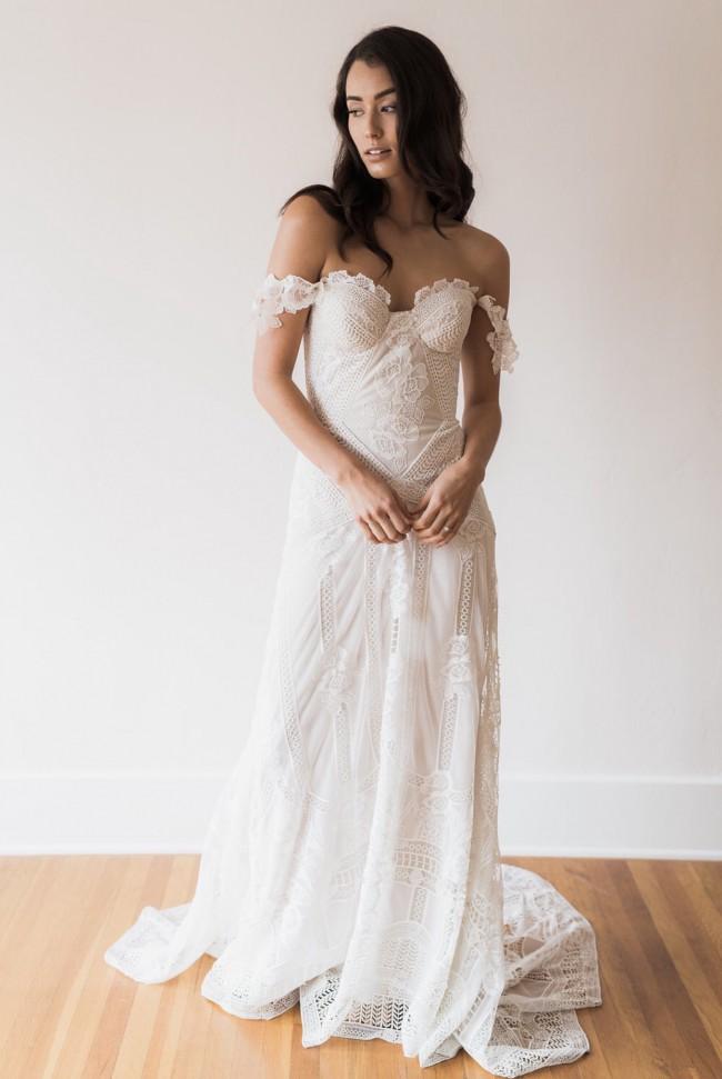Rue de seine fox gown new wedding dress on sale 7 off for Rue de seine wedding dress cost