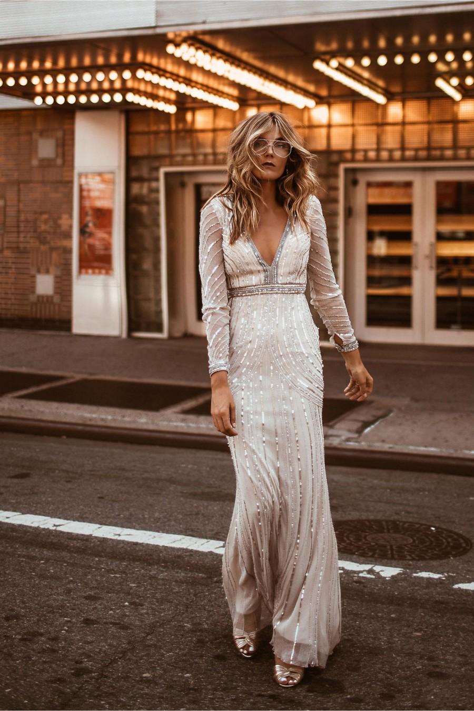 Glitz and Glam: 34 Sequin Wedding Dresses