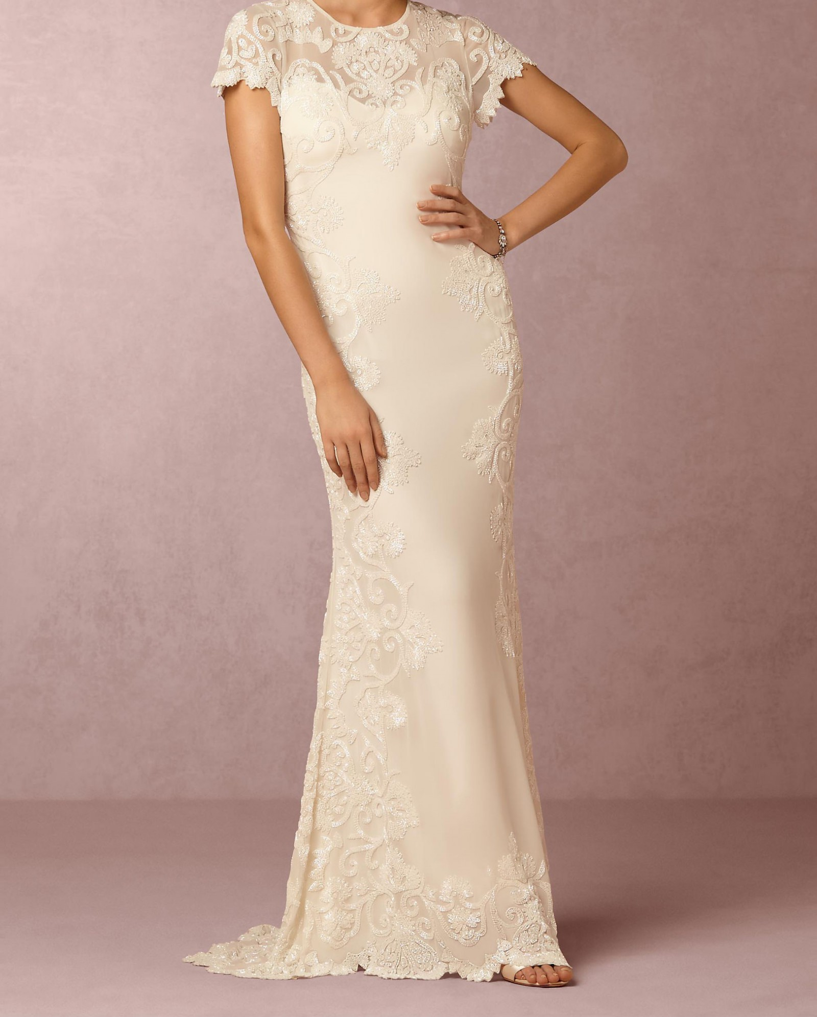 Second Hand Wedding Dresses: BHLDN Jade Gown STYLE #39007893 Second Hand Wedding Dress