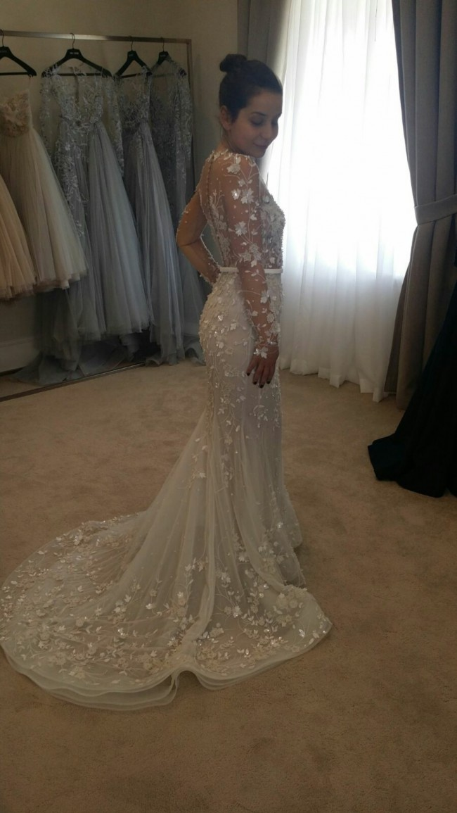 Paolo Sebastian Custom Made Used Wedding Dress on Sale 56% Off