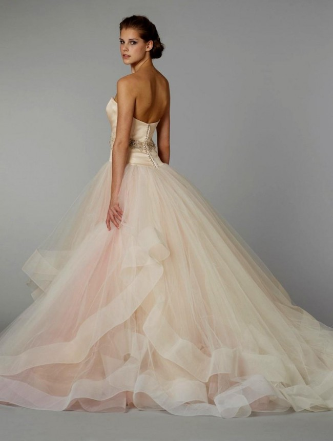 Lazaro Sherbert Ball Gown: Lazaro Style 3250 PreOwned Wedding Dress ...