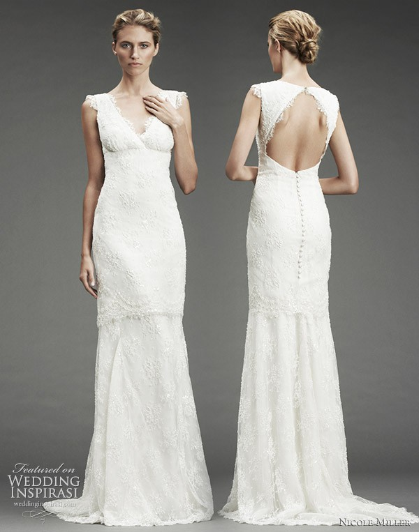 Nicole Miller Beaded Lace Gown Nm9978 Preowned Wedding