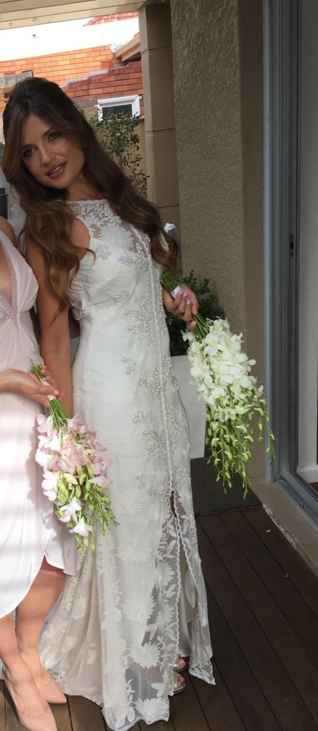 Rue de seine florence gown second hand wedding dress on sale for Rue de seine wedding dress cost