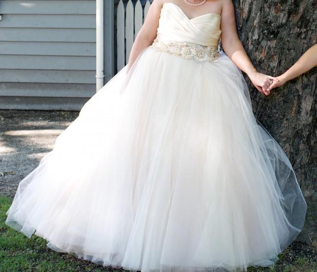 Blush Lazaro Wedding Gown: Lazaro 3108 Blush Preowned Wedding Dress On Sale 60% Off
