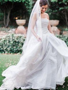 Vera Wang, Textured Organza Dress