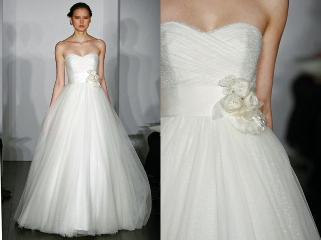 Christos Dotted tulle - Used Wedding Dresses - Stillwhite