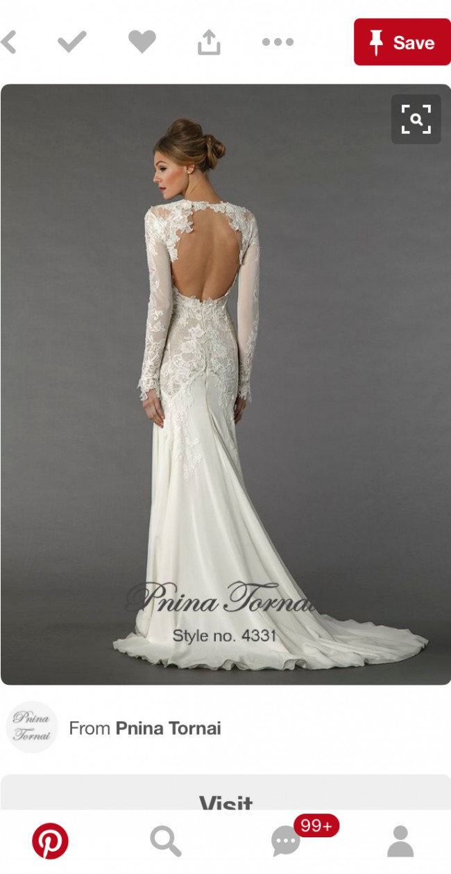 Long Sleeve Pnina Tornai Wedding Dresses